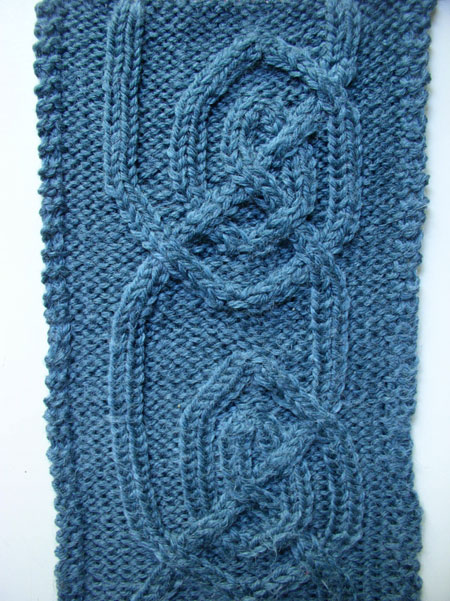 Woolly Mammoths Celtic Spiral Cable Scarf Pattern